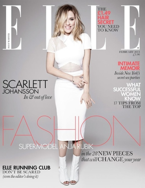 Scarlett Johansson ELLE UK February 2013 cover